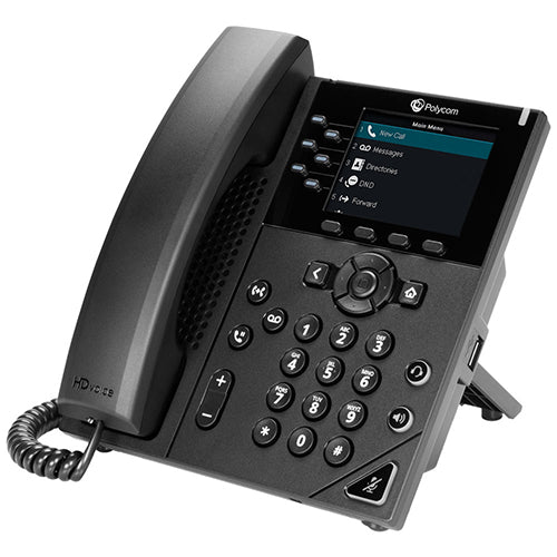 VVX 350 6-line Desktop Business IP Phone with dual 10/100/1000 Ethernet ports. PoE only. Ships without power supply. 3 year partner premier service is included for China. mexico monterrey online teleinformatica del norte teldelnorte.com