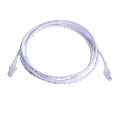 Patch Cord MC6 Modular Cat6 UTP, CM/LS0H, 15ft, Color Blanco mexico monterrey online teleinformatica del norte teldelnorte.com