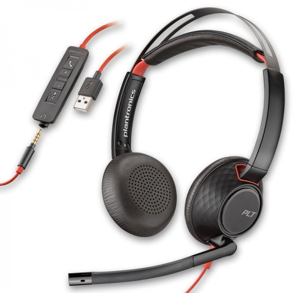 Blackwire 5220, C5220,USB-A, ww binaural, conectividad USB/USB-Cy de 3,5 mm