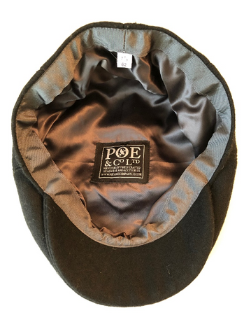 Poe & Company Limited Flat Cap Lining and Label