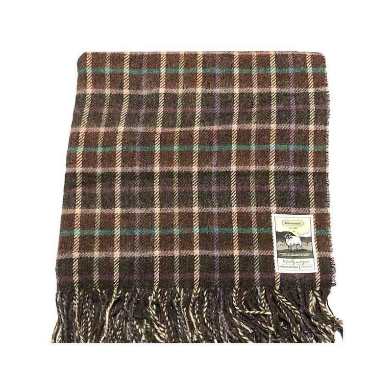 100% British Wool Fashion Blanket - Chocolate Forest - Poe and Company Limited - Blanket - Flat Cap