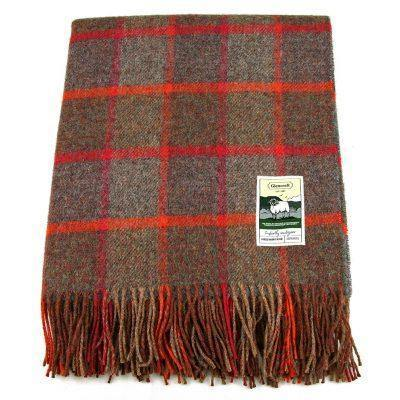 100% British Wool Fashion Blanket - Cranberry Spice - Poe and Company Limited - Blanket - Flat Cap