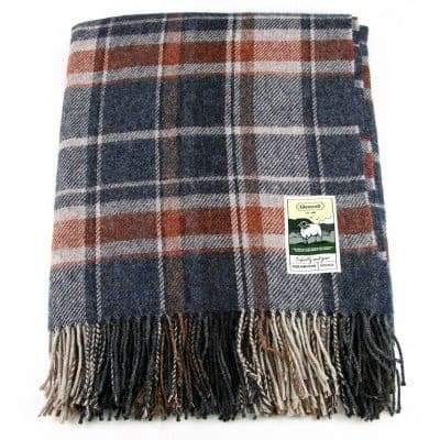100% British Wool Fashion Blanket - Cuttysark - Poe and Company Limited - Blanket - Flat Cap
