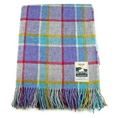 100% British Wool Fashion Blanket - Ocean Sunset - Poe and Company Limited - Blanket - Flat Cap
