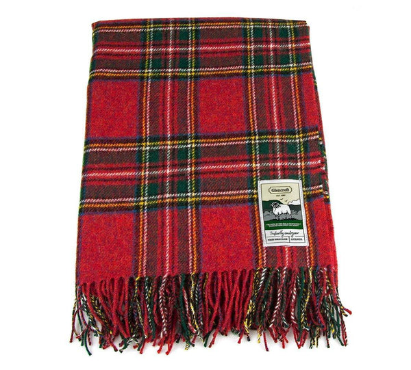 100% British Wool Tartan Blanket - Royal Stuart - Poe and Company Limited - Blanket - Flat Cap