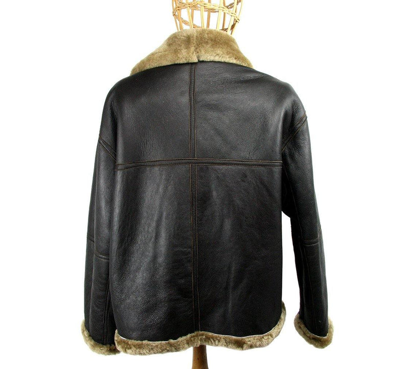 Authentic WWII Sheepskin Flying Jacket - Poe and Company Limited - Bomber Jacket - Flat Cap