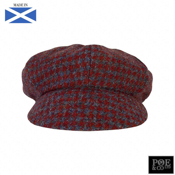Bubssie Flat Cap in Meadow Heather Harris Tweed - Poe and Company Limited - Flat Cap - Flat Cap