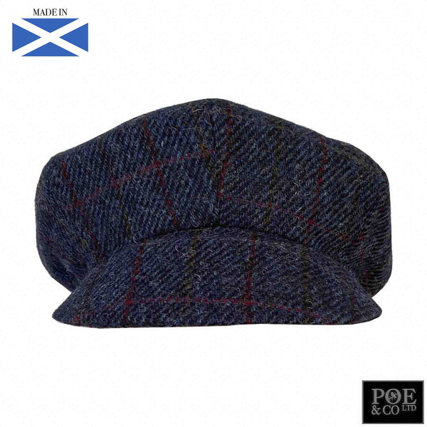 Bubssie Flat Cap in Oxford Harris Tweed - Poe and Company Limited - Flat Cap - Flat Cap
