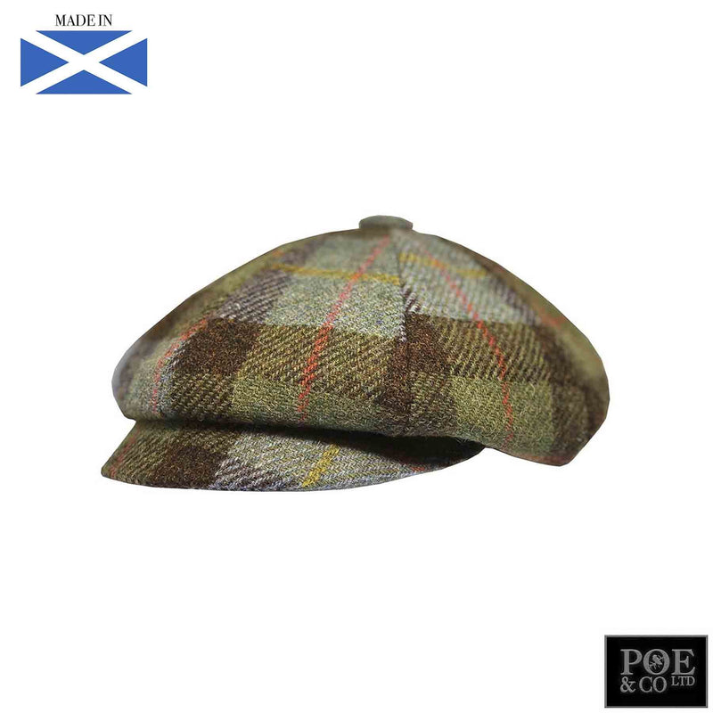 Bubssie Flat Cap in Penny Lane Harris Tweed - Poe and Company Limited - Flat Cap - Flat Cap