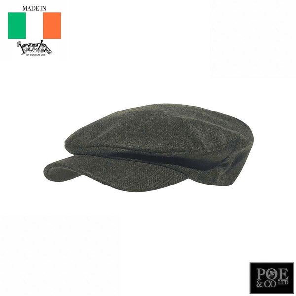 Daithi Flat Cap in Uaine Tweed by Hanna - Poe and Company Limited - Flat Cap - Flat Cap