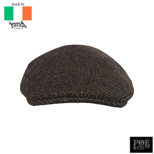 Donegal Flat Cap in Drumcliff Tweed by Hanna - Poe and Company Limited - Flat Cap - Flat Cap