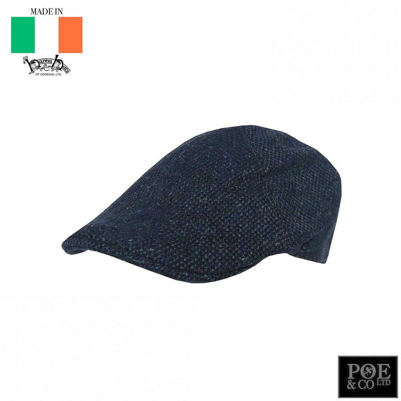Erin Flat Cap in Donegal Bay Tweed by Hanna - Poe and Company Limited - Flat Cap - Flat Cap