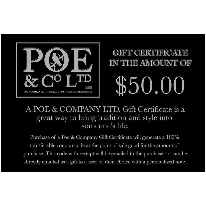 """Felix the Raven"" Gift Card - Poe and Company Limited - Gift Card - Flat Cap"