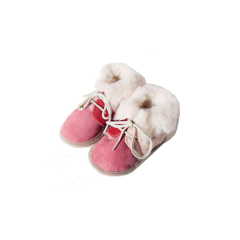 Lullaby Lamb Lambswool Baby Booties - Poe and Company Limited - Baby Booties - Flat Cap