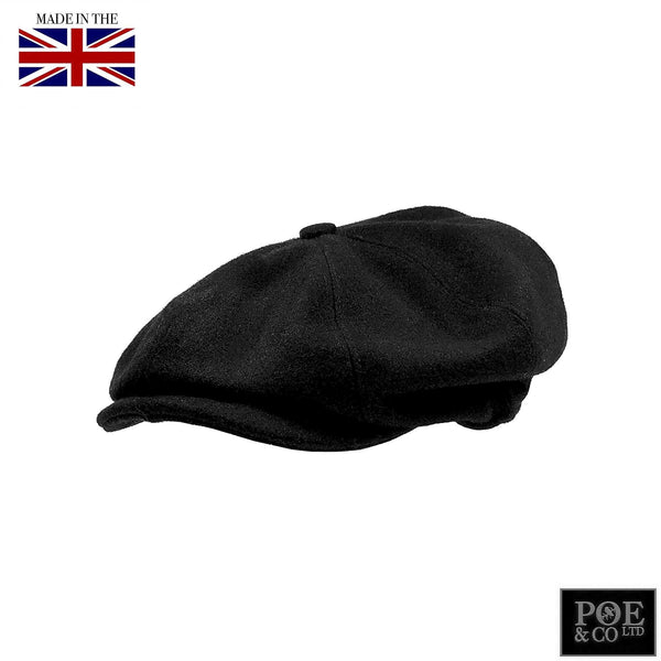 Poe & Company Shelby Flat Cap in Raven Tweed - Poe and Company Limited - Flat Cap - Flat Cap