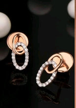 Load image into Gallery viewer, Double Ring Crystal Stud Earrings