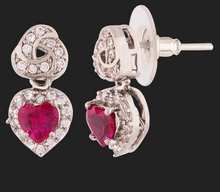 Load image into Gallery viewer, Love Knots Heart Drop Earrings