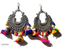 Load image into Gallery viewer, Multi Colored Rich Tibetian Drop earrings