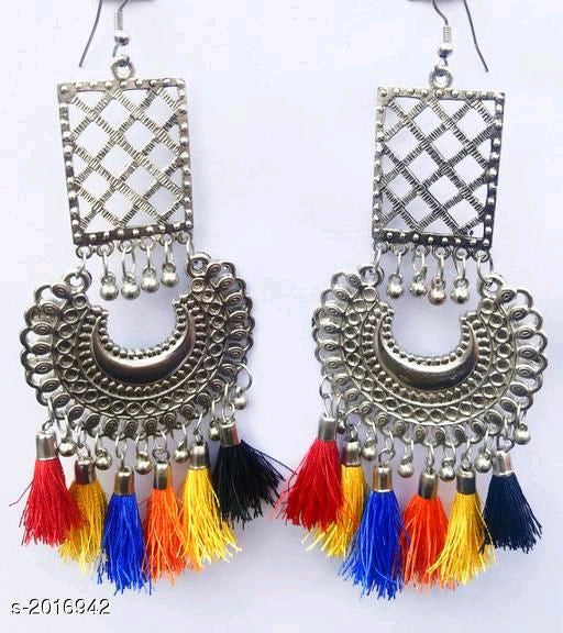 Multi Colored Rich Tibetian Drop earrings