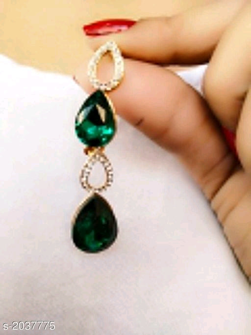 Stylish Colorful Diamond Drop Earrings