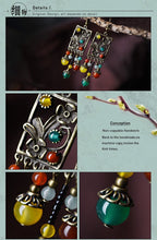 Load image into Gallery viewer, Ethnic stone beads multi-color earrings