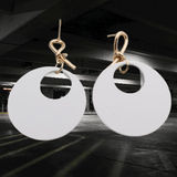 Statement Big Round Circle Geometric Earrings - earringsly
