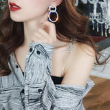 Shining Hollow Luxury Dangle Earrings - earringsly
