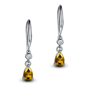 Silver 925 Elegant Simple Drop Earrings - earringsly