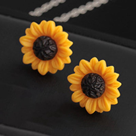 Summer Beach Acrylic Sunflower Earrings - earringsly