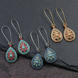 Boho Water Drip Beads Drop Earrings - earringsly