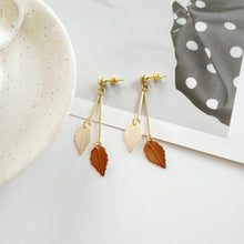 Load image into Gallery viewer, Small Creative Fresh colors leaf earrings - earringsly