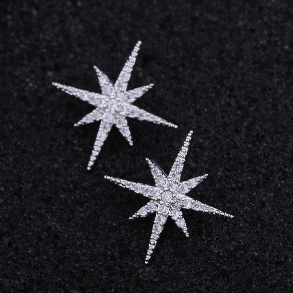 Delicate Stylish Star Stud Earrings