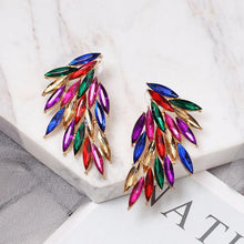 Load image into Gallery viewer, Rhinestone Wings Multi-color Earrings - earringsly