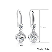Load image into Gallery viewer, Romantic Lucky Clover Crystal Drop Earrings