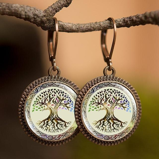 Creative Tree of Life Dangle Earrings - earringsly