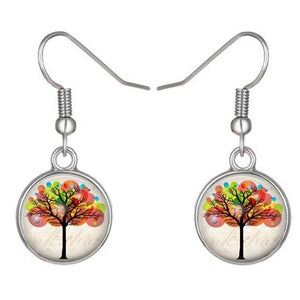 Charming Life Tree pendant drop earrings - earringsly