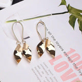 U-shaped Spiral Leaf curved earrings - earringsly
