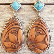 Load image into Gallery viewer, Ethnic Brown Water Drop Stone Earrings