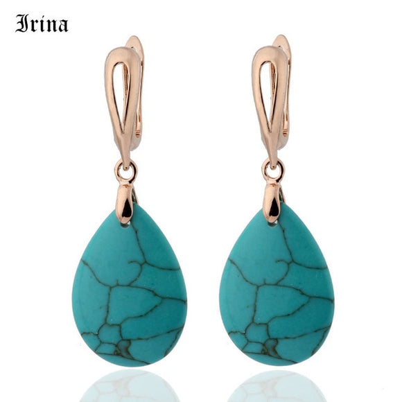 Water Droplets Attractive Stone Earrings