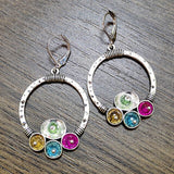 Vintage water drop dangle earrings