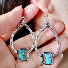 Load image into Gallery viewer, Vintage water drop dangle earrings