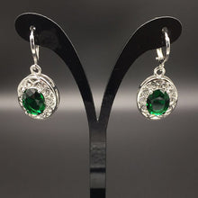 Load image into Gallery viewer, Vintage 925 Silver Ruby Drop Earrings