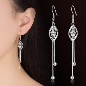 Plum Flower 925 Sterling Silver Earrings
