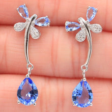 Load image into Gallery viewer, Dragonfly 925 Sterling Silver Earrings