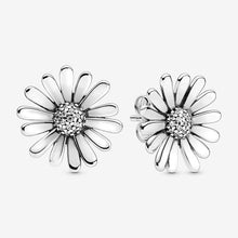 Load image into Gallery viewer, 925 Sterling Silver Pink Daisy Flower Stud Earrings