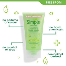 Load image into Gallery viewer, SIMPLE REFRESHING FACIAL GEL WASH 150ML