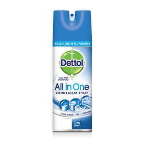 DETTOL ALL IN ONE DISINFECTANT SPRAY FOR HARD AND SOFT SURFACES 400ml