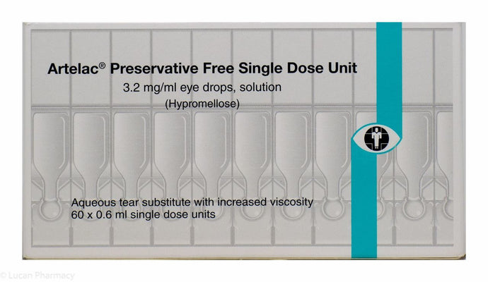 Artelac® Preservative Free 3.2 mg/ml Eye Drop Solution (Hypromellose) – 60x0.6ml Single Dose Units
