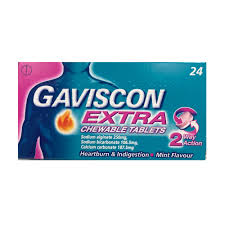Gaviscon Extra Chewable Tablets 24s
