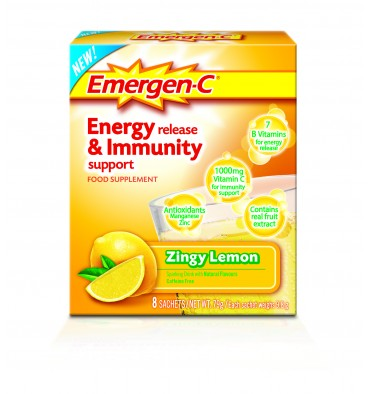 Emergen C Energy Release &­ Immunity Support Lemon